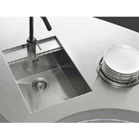 Top piani lavoro cucina in acciaio inox incasso store - Top cucina acciaio inox prezzo ...